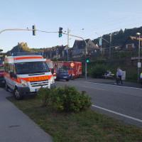 Führungskraftwagen mit Fachberater bei der Abstimmung im Einsatzabschnitt 1 - Wasser (Quelle: DLRG Bad Salzig/Heidinger)